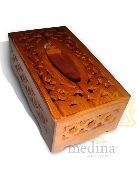 objets d co bois bois thuya boite mouchoirs moucharabieh. Black Bedroom Furniture Sets. Home Design Ideas
