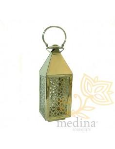 Lanterne berbère métal argenté