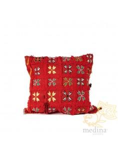 Coussin vintage carré rouge...