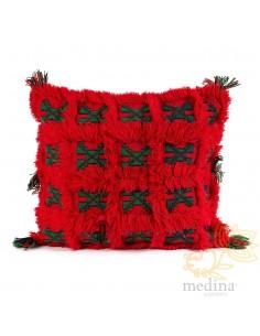 Coussin carré vintage rouge...