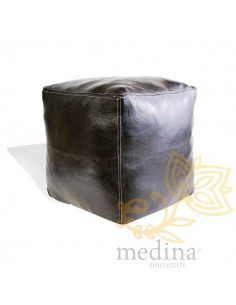 Pouf marocain cube noir...