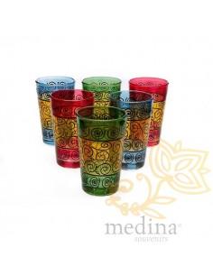 Verres a thé décorés au...