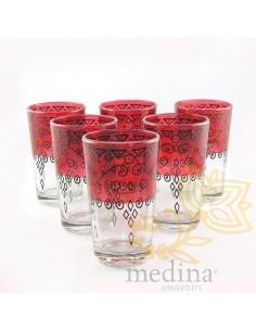 Verres a thé celebration rouge