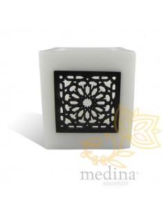 Photophore cube blanc motif...