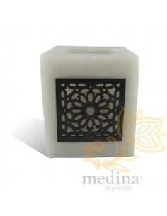 Photophore cube gris motif...