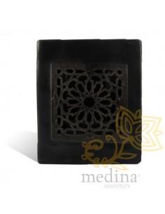 Photophore cube noir motif...