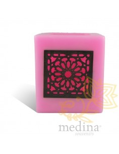 Photophore cube rose motif...