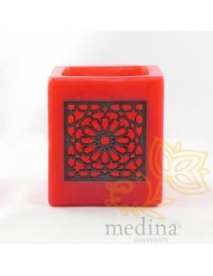 Photophore cube rouge motif...