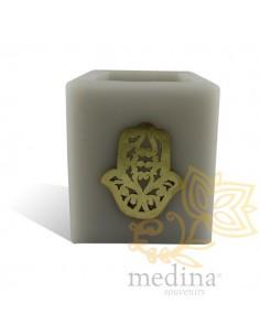 Photophore cube gris main...