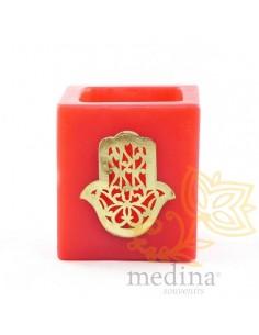 Photophore cube rouge main...